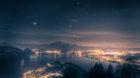 Nächtlicher Vierwaldstädtersee mit Sternbild Orion