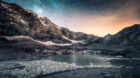 Im Gries Gletschersee und Milchstrasse