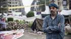 """Cairo, 29.11.2011 Hossem, 43, Anwalt, seit dem 1. Samstag der Proteste auf dem Tahrir Square in Kairo. """"Was hier passierte,"""
