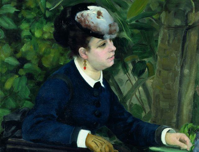 «Femme dans un jardin» von Auguste Renoir (1868). (Foto Martin P. Bühler,(c) Pro Litteris)