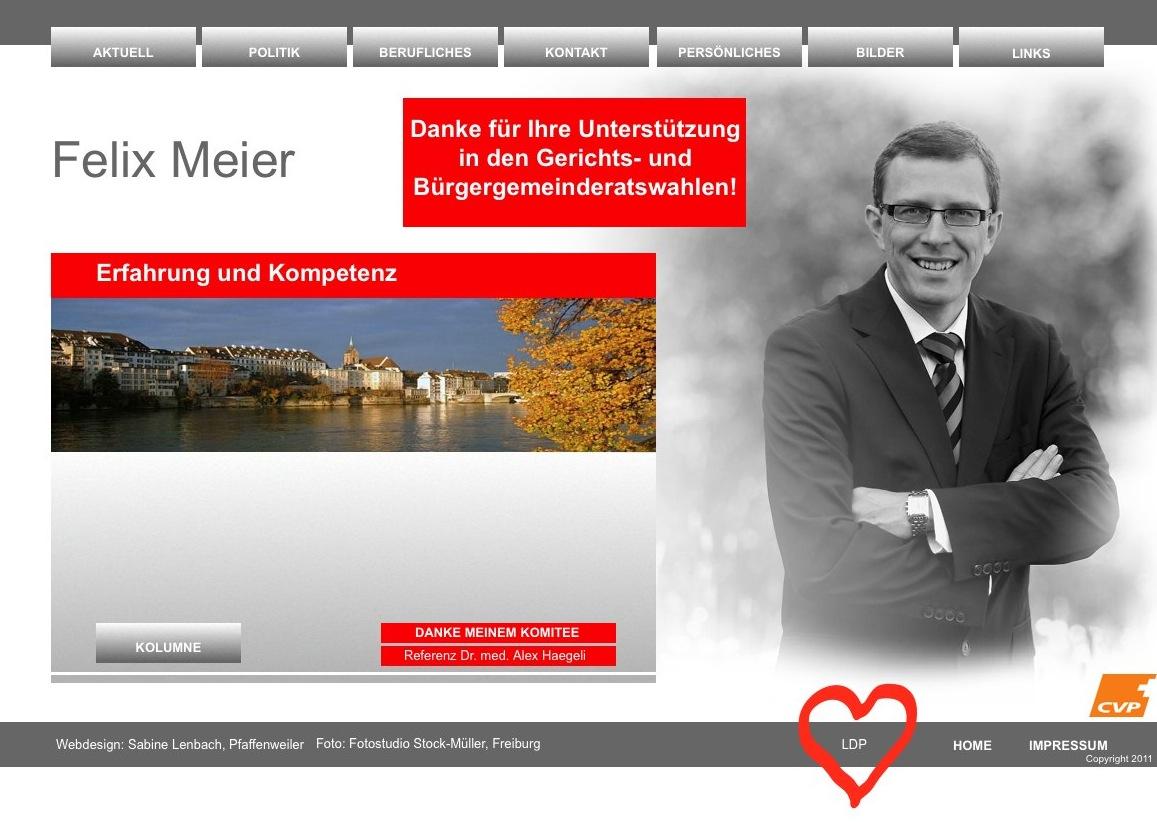 Neu-CVP-Grossrat Felix Meier macht bereits der LDP schöne Augen.