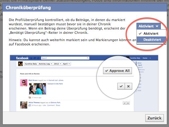 Privatsphäre-Einstellungen Facebook