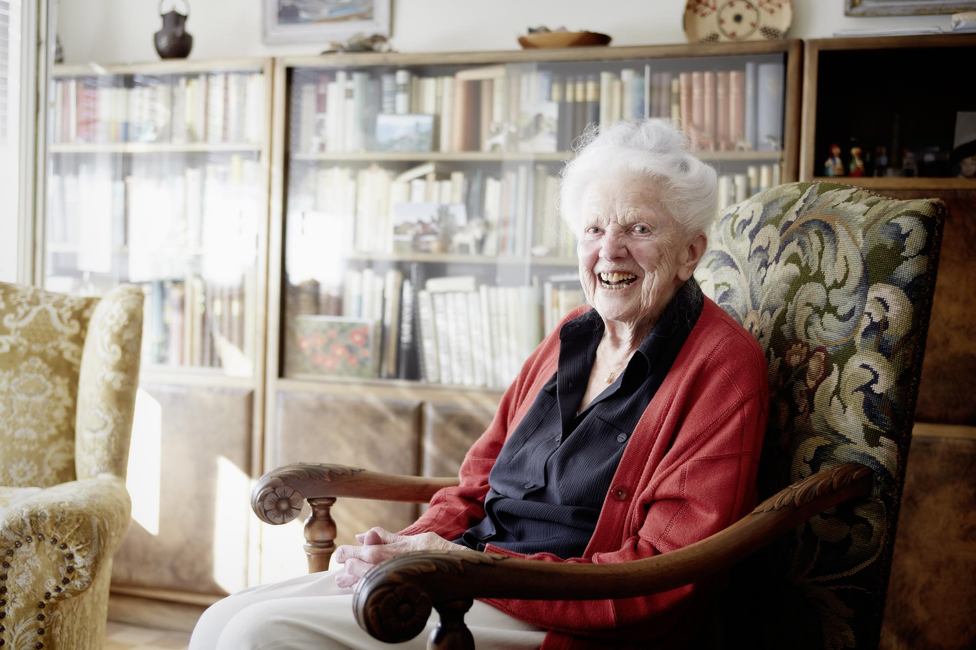 Marcelle Käslin, 101, wurde Sekretärin.