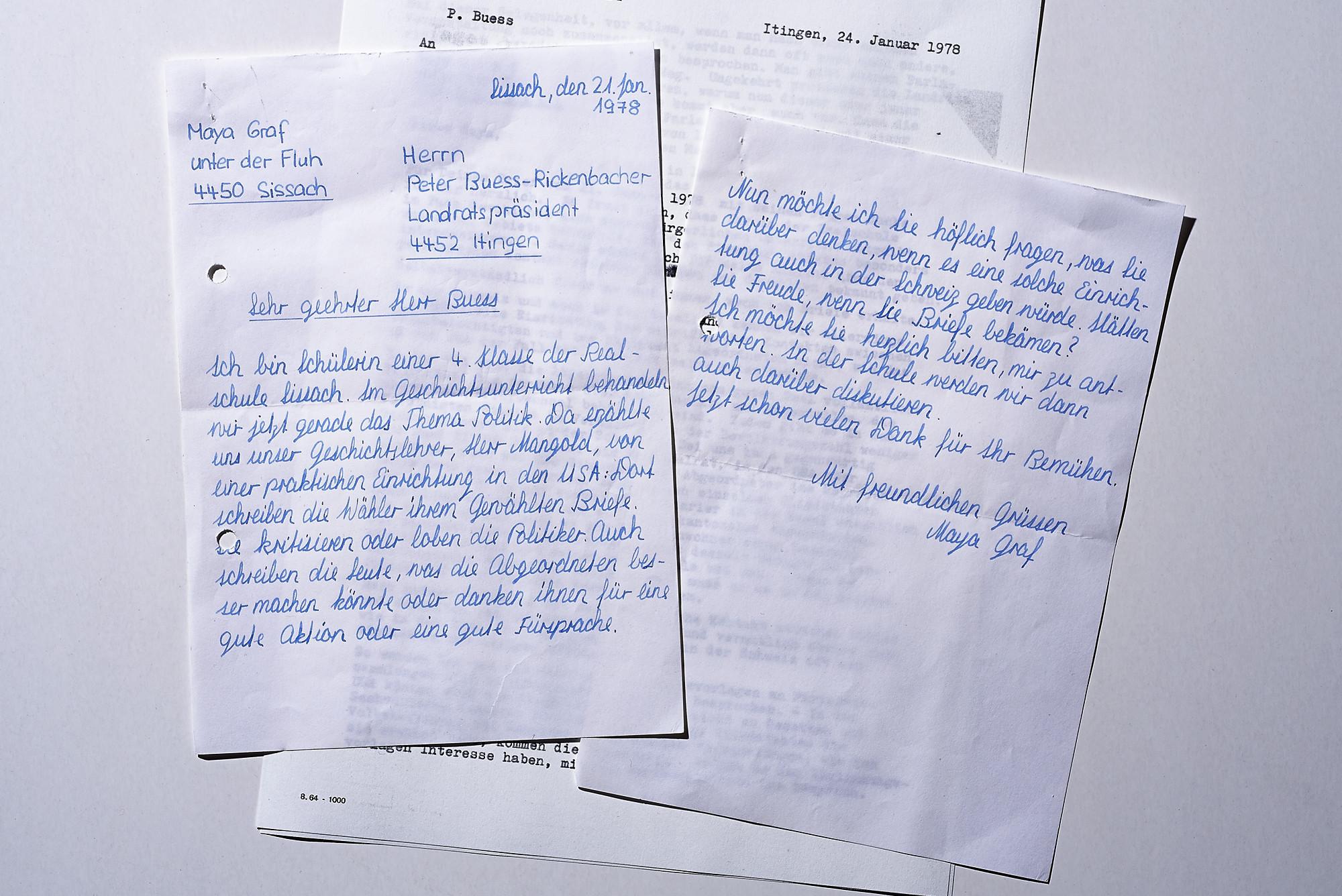 Ein Brief von 1978 zeigt, wie früh sich die Nationalratspräidentin ...