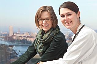 Prof. Christiane Pauli-Magnus und Prof. Mirjam Christ-Crain (rechts).