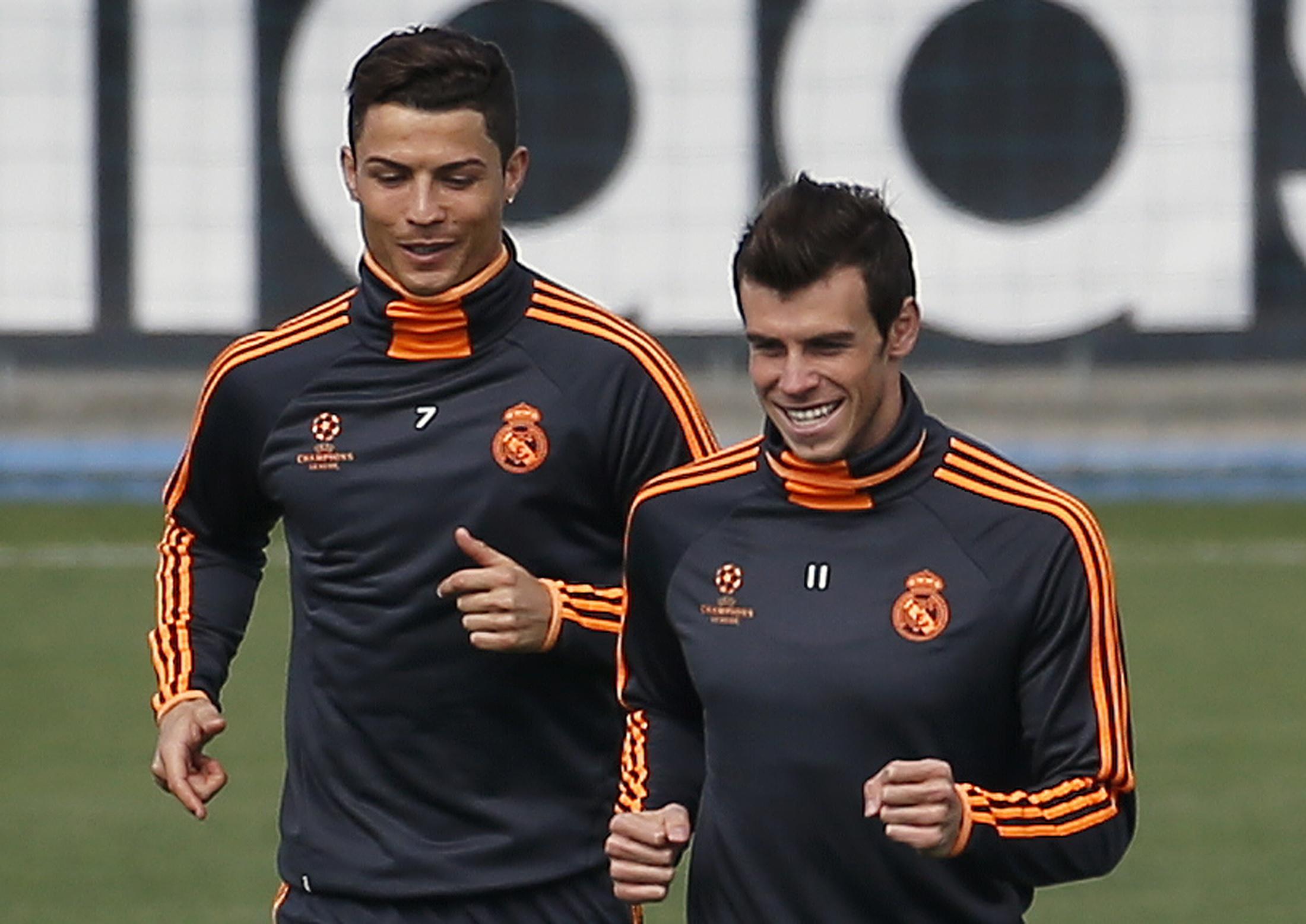 Real Madrid hofft auf Cristiano Ronaldo (links), der sich am Dienstag im Training zurückmeldete, und auf den erkälteten Gareth Bale.