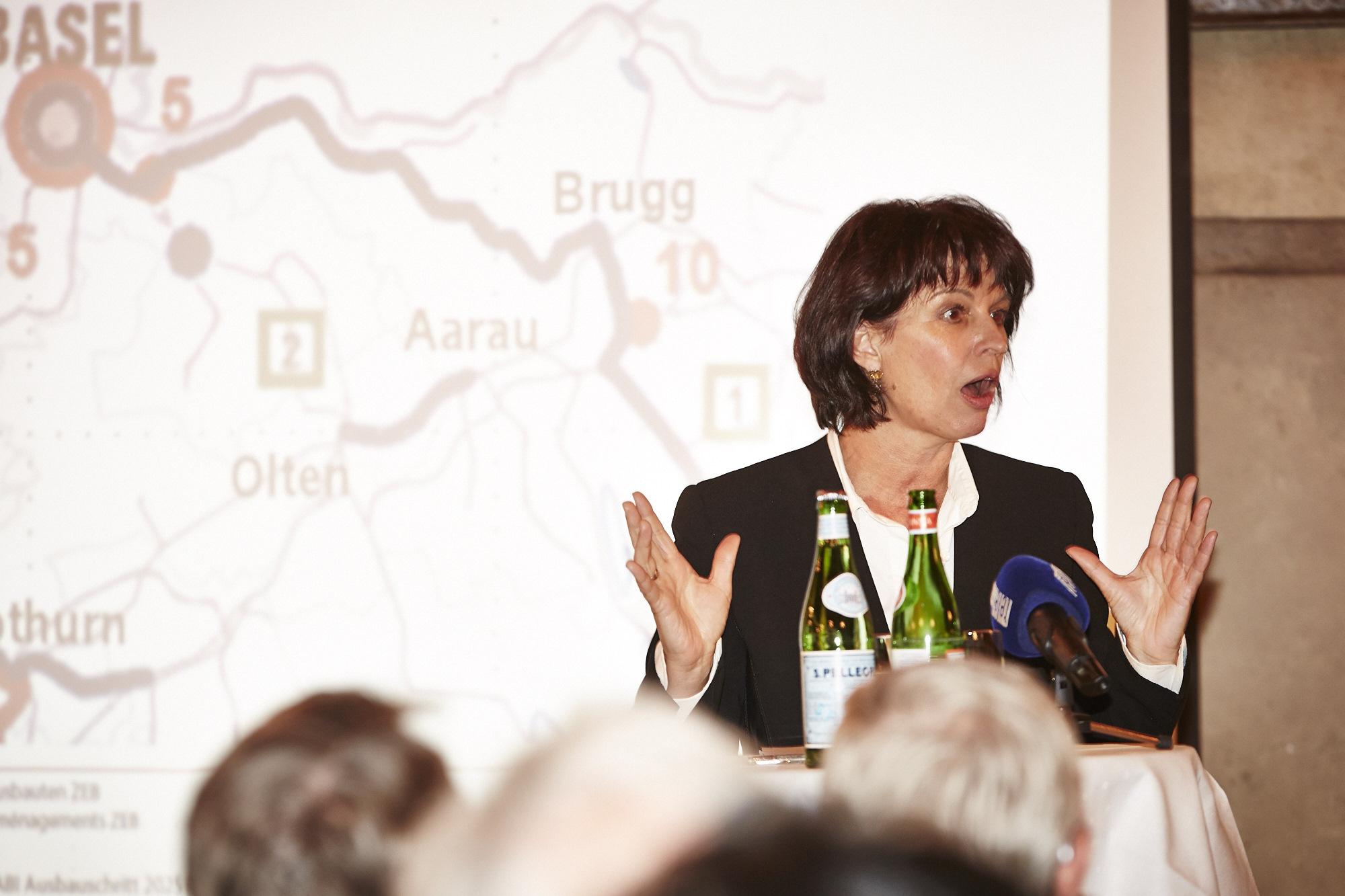 «Andere Städte sind geschickter» – Doris Leuthard bemängelt die Basler Standortpolitik.