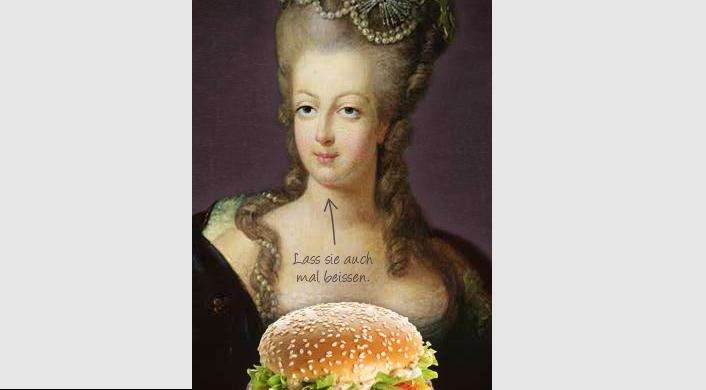 Marie Antoinette kurz vor dem Höhepunkt der Lust.