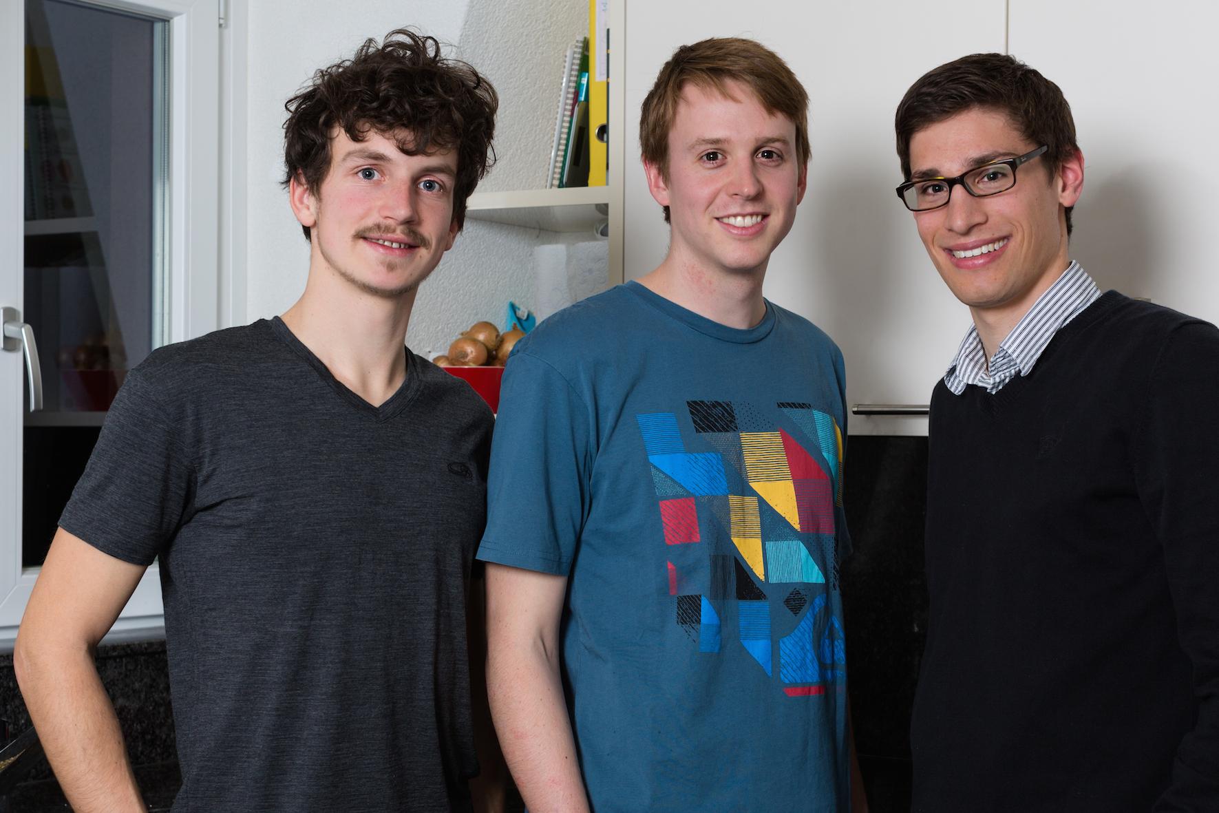 Studenten und Insekten-Freunde: Stefan Schultze, Matthias Grawehr, Christian Bärtsch (von links).