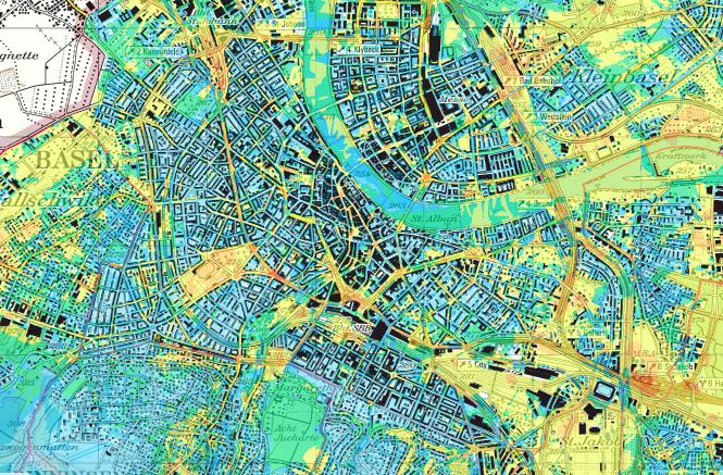 Auszug aus der Feldstärkenkarte des Lufthygieneamts beider Basel. Die Grenzwerte werden laut Experte Axel Hettich «deutlich und mit grosser Reserve unterschritten».
