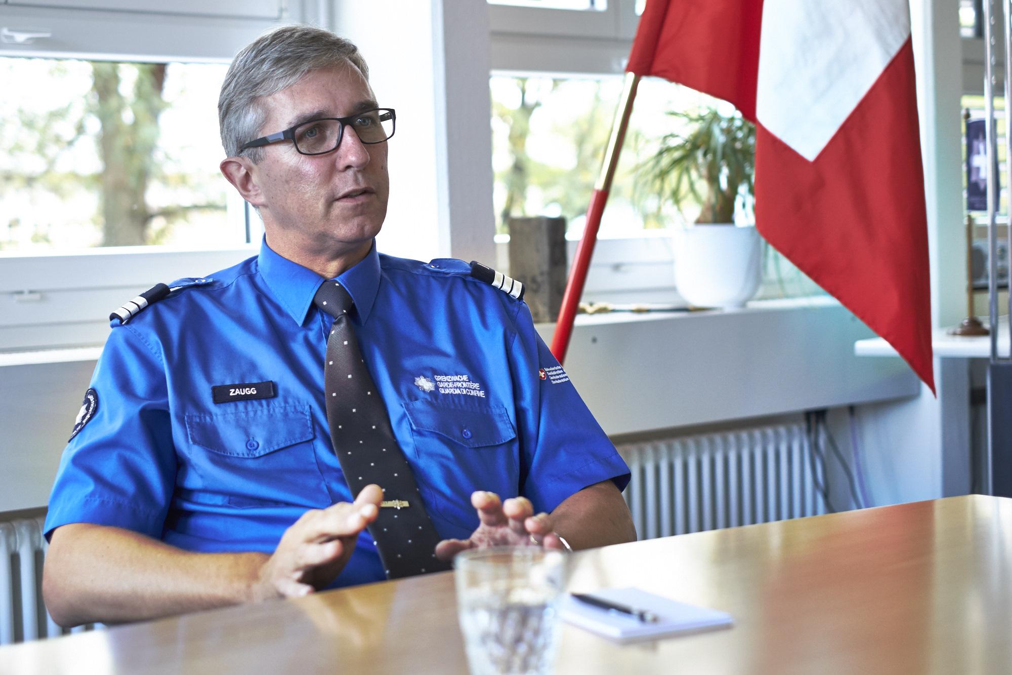 «Wir haben eine gute Zusammenarbeit mit allen Behörden», sagt Roger Zaugg, Kommandant der Grenzwachtregion Basel.