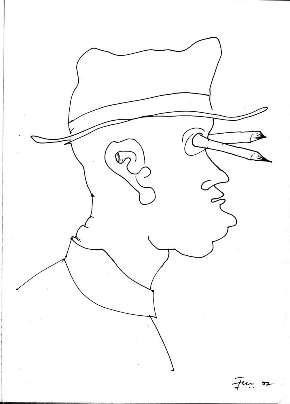 Aus: Fredi M. Murer als Zeichner, Edition Stephan Witschi