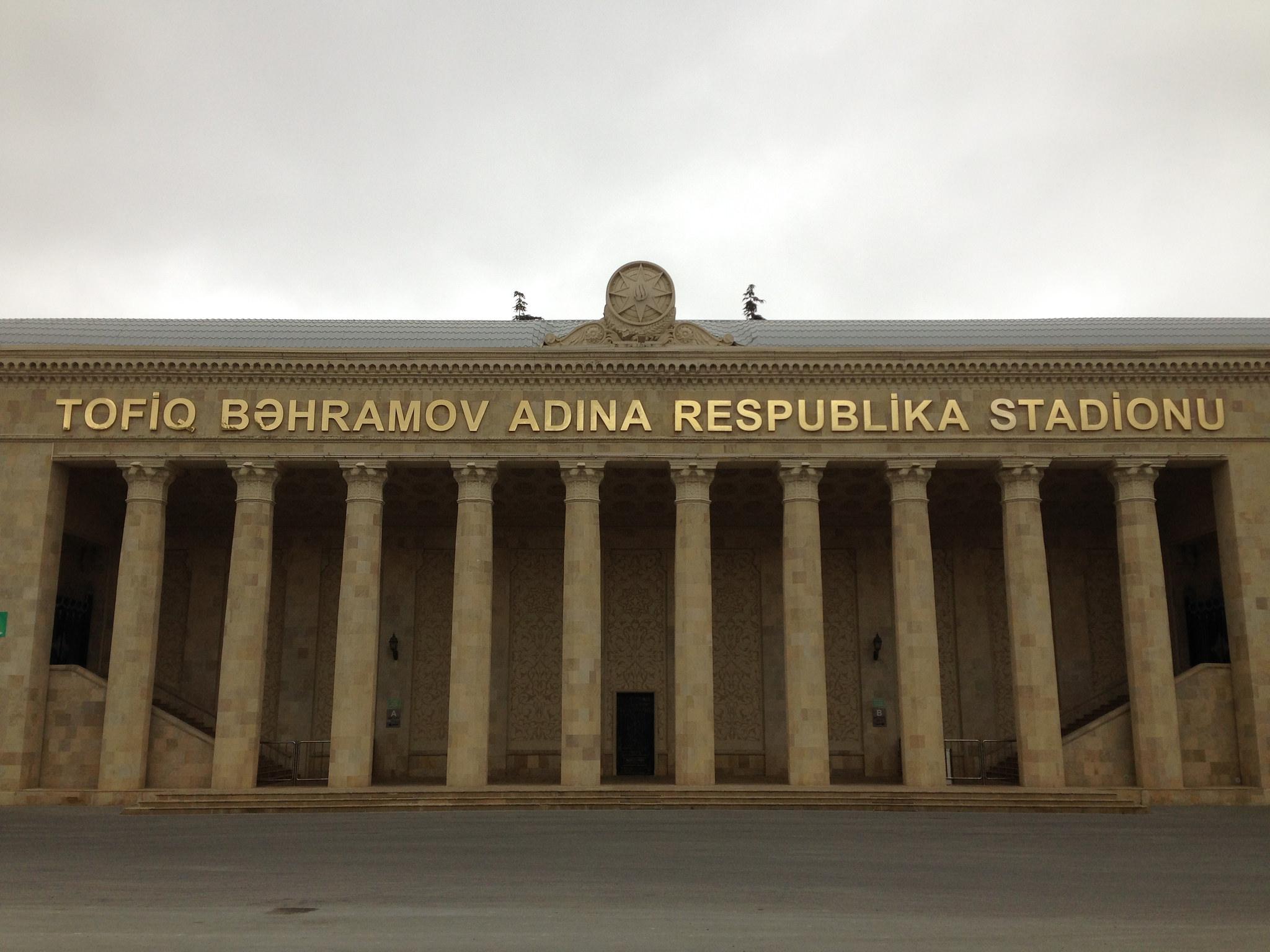 Das Nationalstadion von Aserbaidschan in Baku trägt den Namen von Tofiq Bahramov.