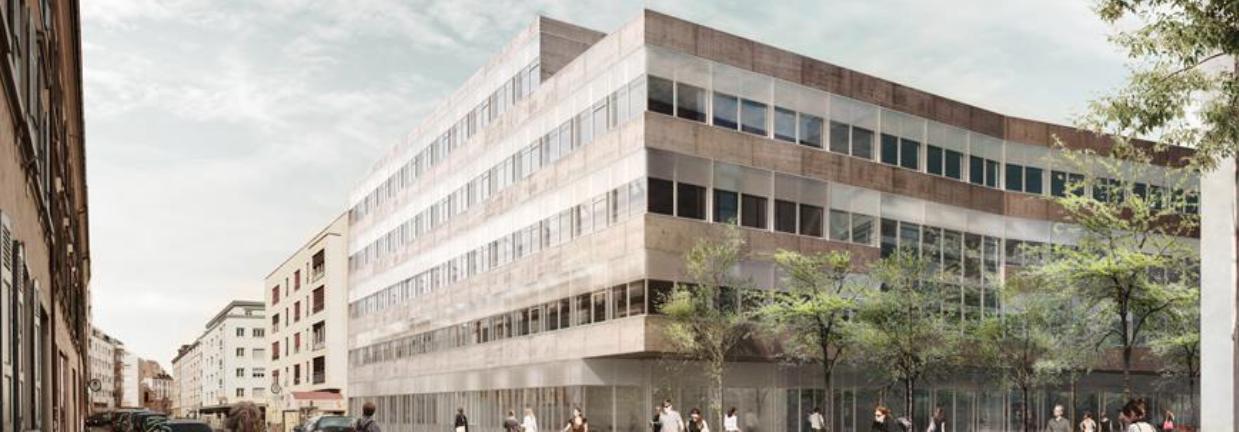 Der Neubau des geplanten Universitären Zentrums für Zahnmedizin auf dem Campus Rosental in Basel.