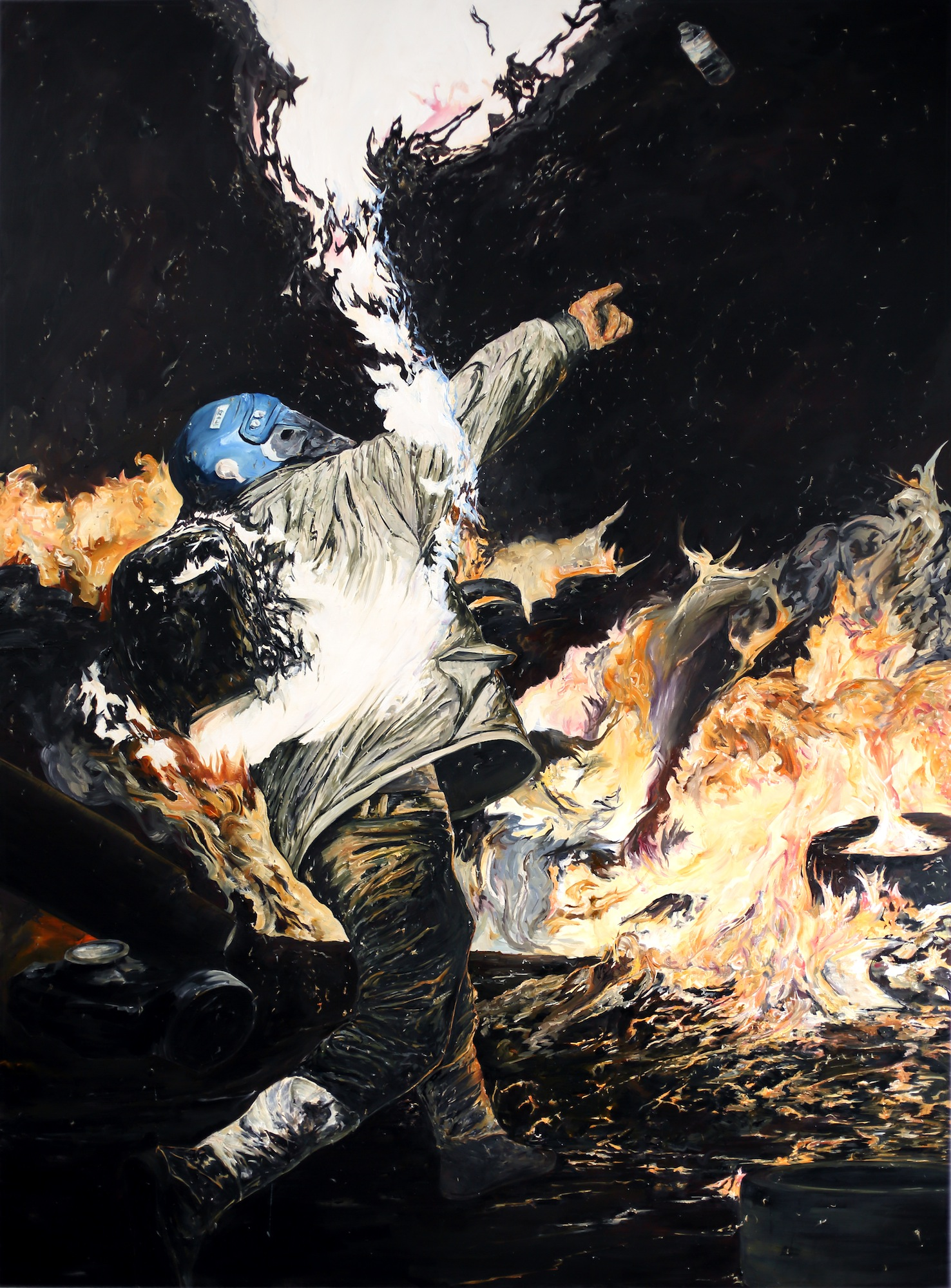 Ein Teil des Diptychons «Le feu dans les profondeurs de la chair».