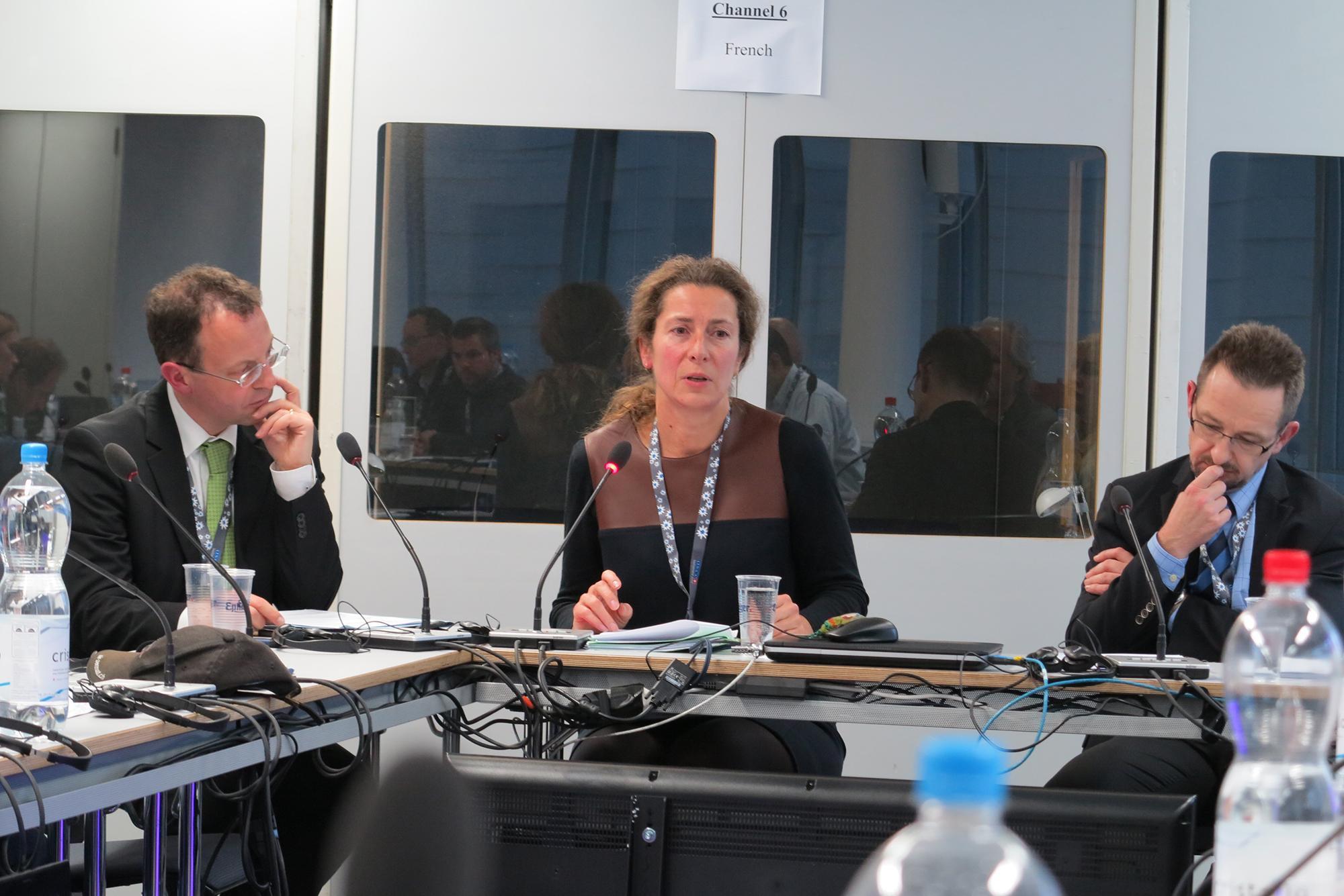Heidi Grau, Leiterin der OSZE-Taskforce in Bern, und ihr Kollege Thomas Greminger (rechts), ständiger Vertreter der Schweiz bei der OSZE, blicken auf ein ereignisreiches Jahr zurück.