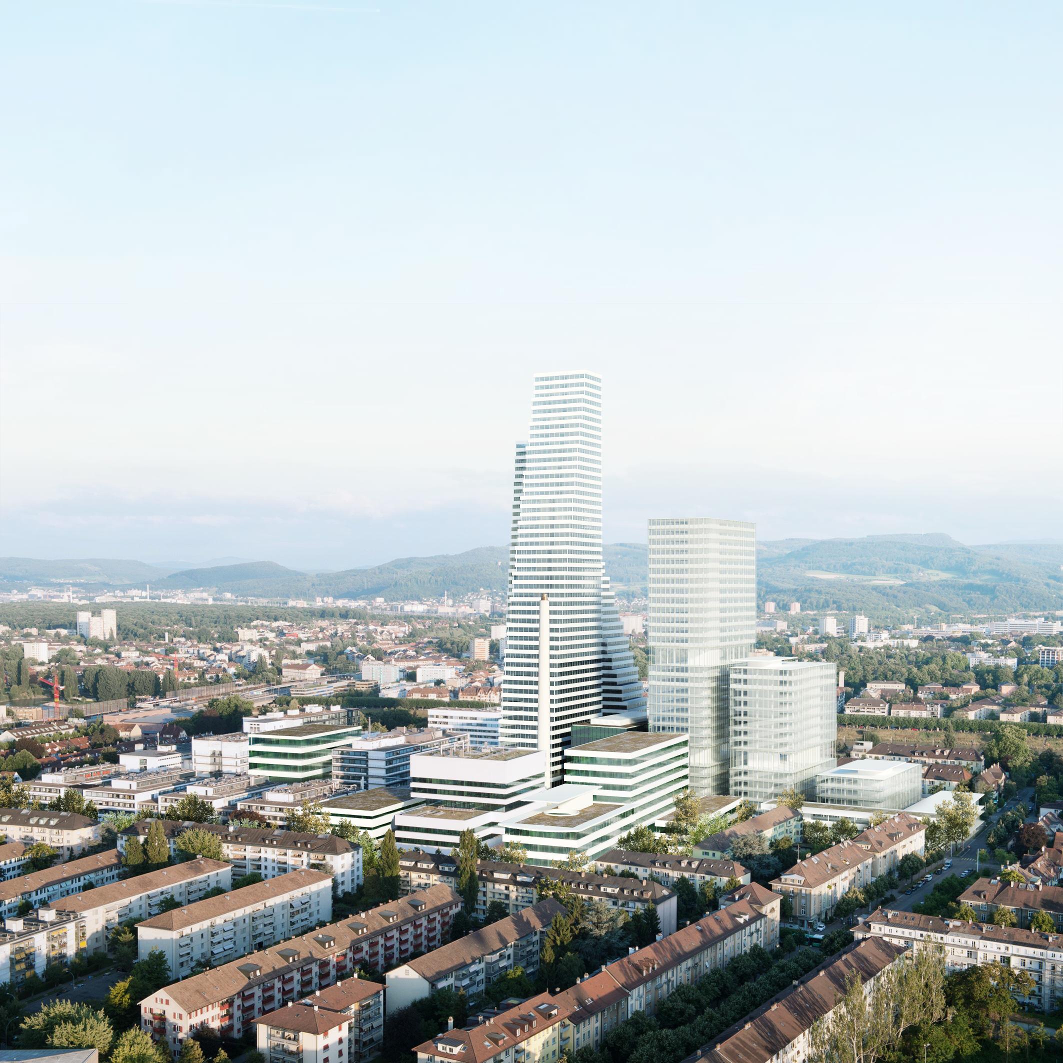 Noch ist der Rocheturm nicht fertiggestellt, schon kündigt das Pharmaunternehmen an, ein noch höheres Gebäude bauen zu wollen.