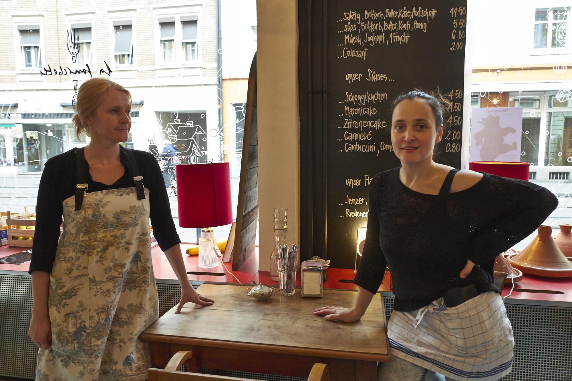 Köchin Claire Guerrier und Gastgeberin Maya Totaro servieren im «La Fourchette» täglich ein kleines Frühstück. Am Wochenende gibt es den grossen Brunch.