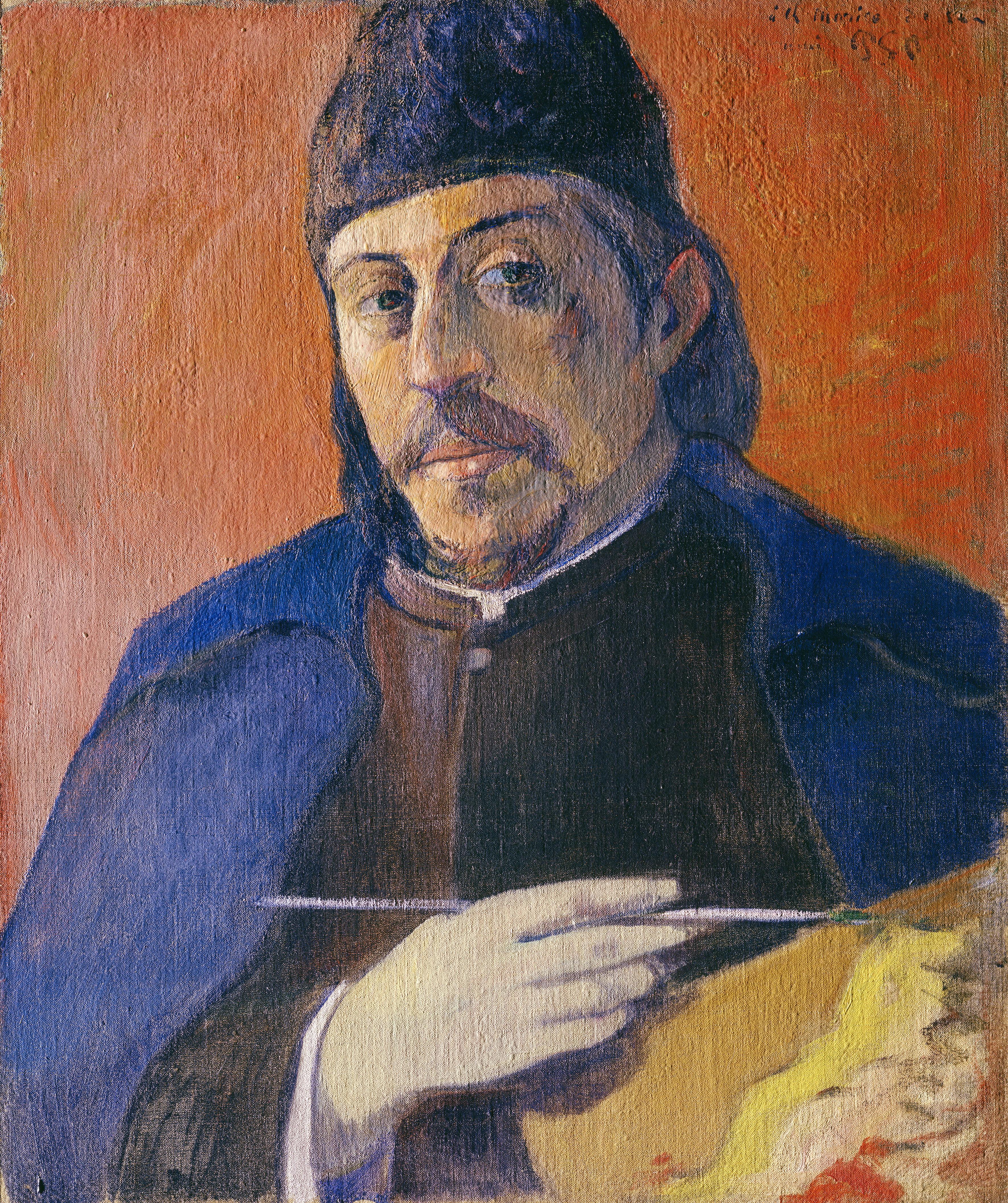 Paul Gauguin Autoportrait à la palette, ca. 1893/94