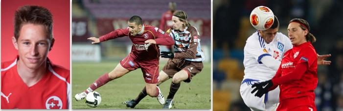 Luca Zuffi: 2006 als U17-Nationalspieler, 2009 beim FC Winterthur und 2013 im Trikot des FC Thun.