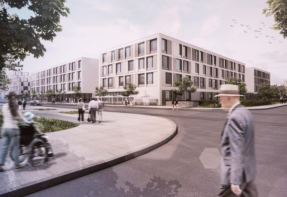So soll der Neubau des Felix-Platter-Spitals künftig aussehen.