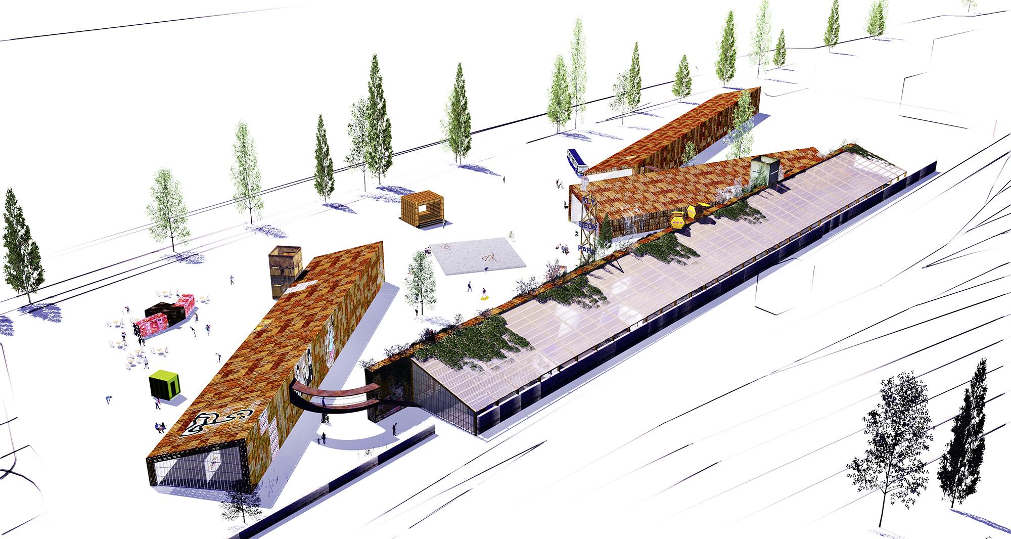Vier Hallen sollen das grosse Zelt der Scope ersetzen und Shift Mode eine flexible Nutzung der übrigen Fläche erlauben.