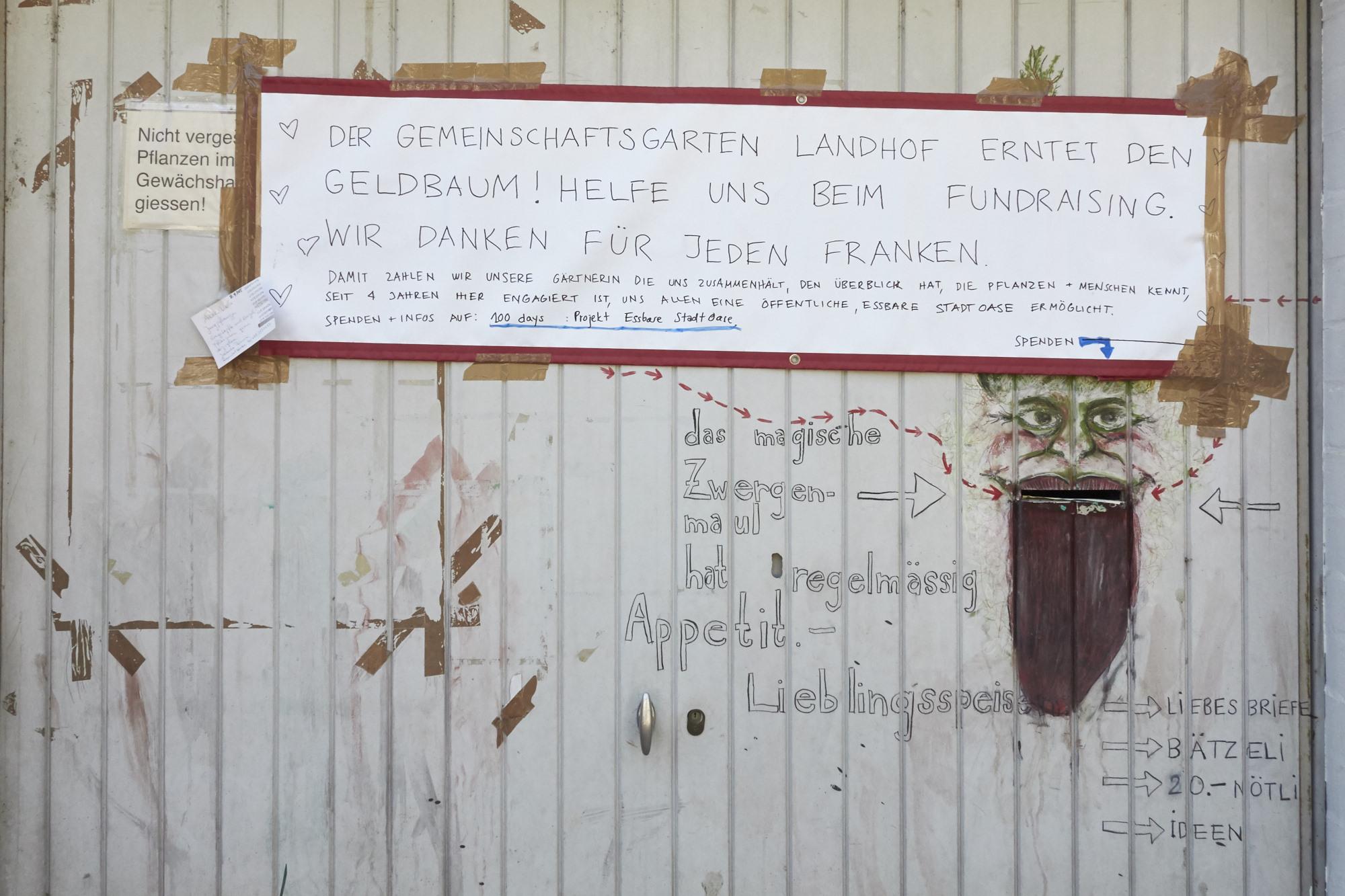 15'000 Franken will das Team des Gartens am Ende dieser hundert Tage zusammen haben.