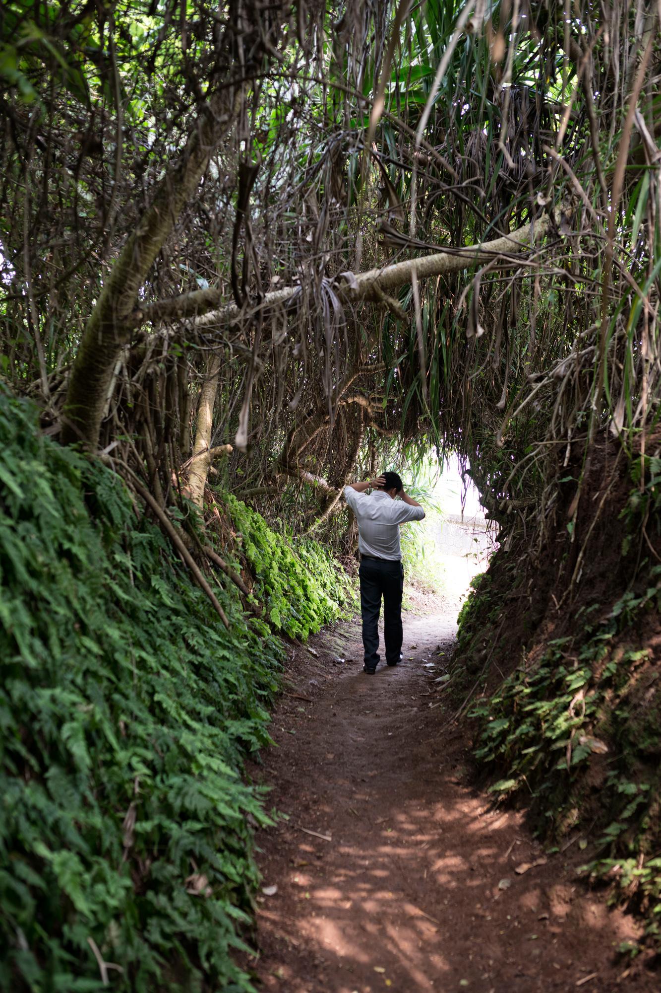 Schutztunnels von Vinh Moc: Zum Meer hin gut getarnter Augang.