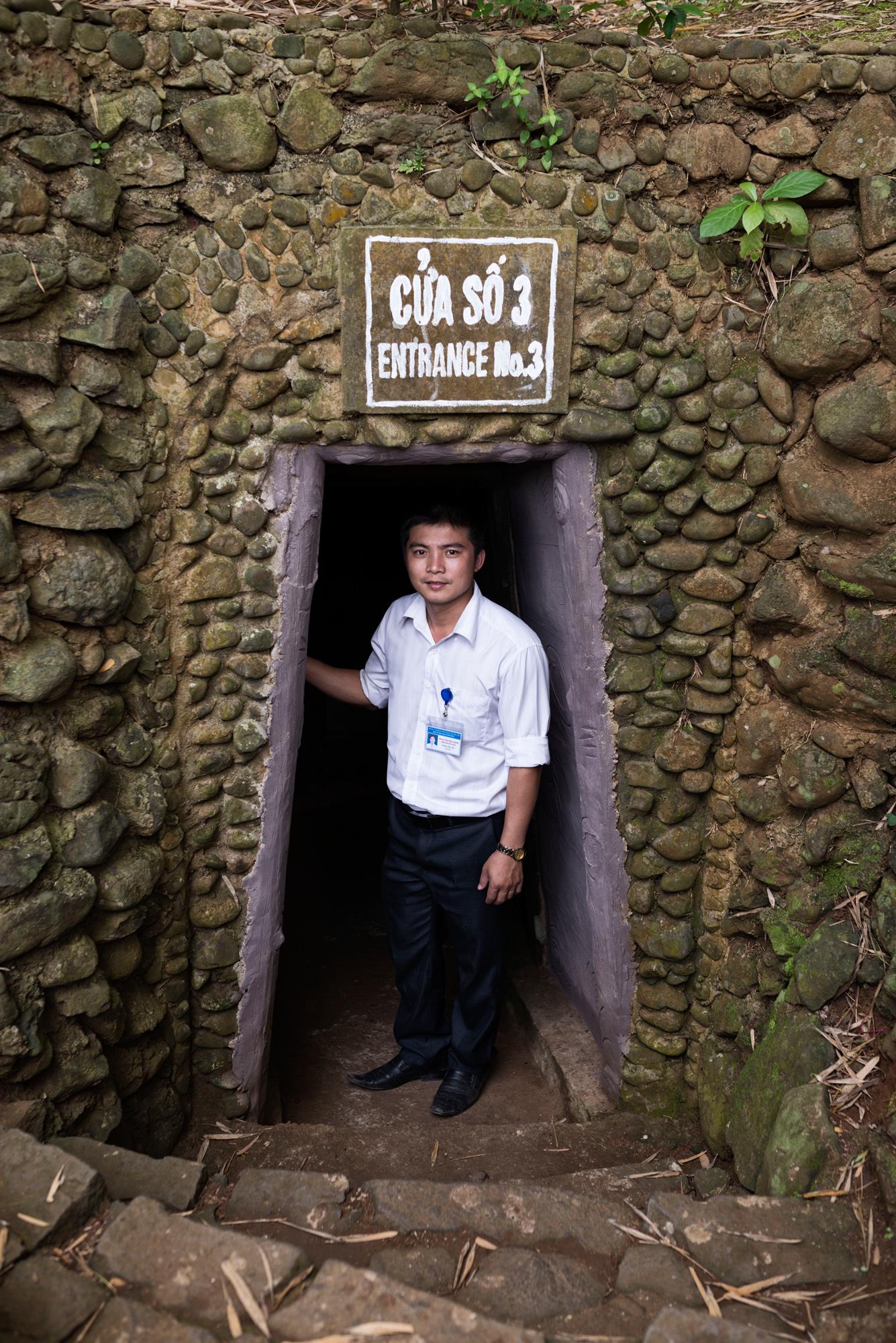 Bis zum Rückzug der Amerikaner im Jahre 1972 spielte sich das Leben der Dorfbevölkerung von Vinh Moc in diesem Tunnelsystem ab.