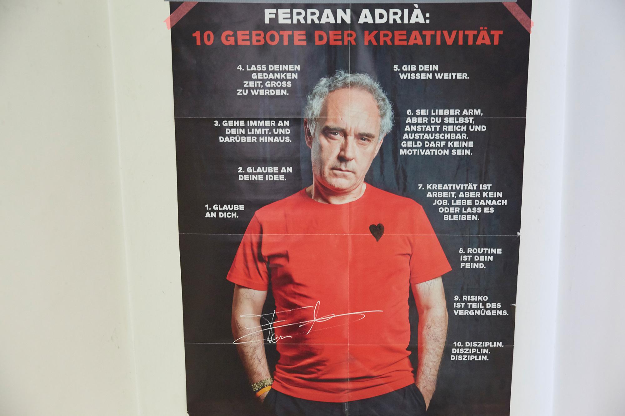Hängen in der Stucki-Küche und bei Thierry Boillat über dem Sofa: Die zehn Gebote der Kreativität von Ferran Adrià