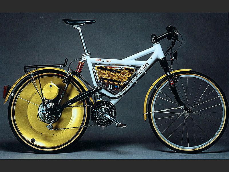 Von den Anfängen: Eines der ersten E-Bikes, die Michael Kutter gebaut hat.