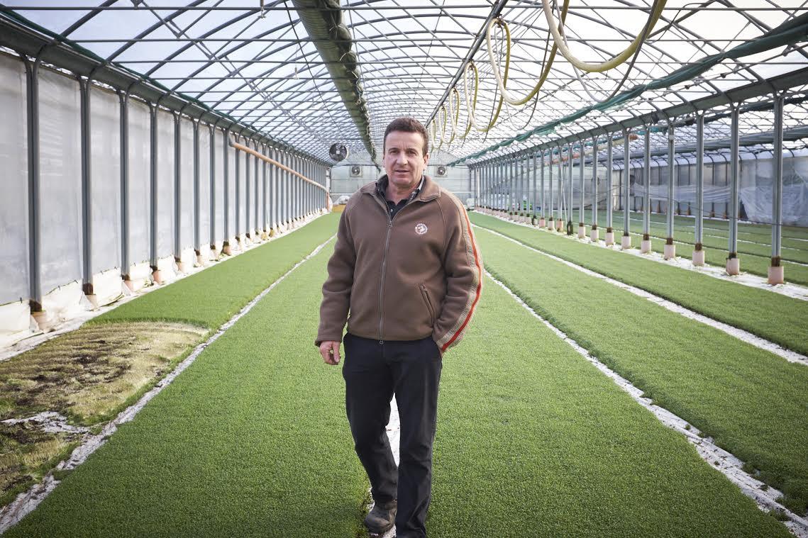 Andreas Eschbach führt einen Gemüsehof in Füllinsdorf. Unter anderem baut er Kresse an.