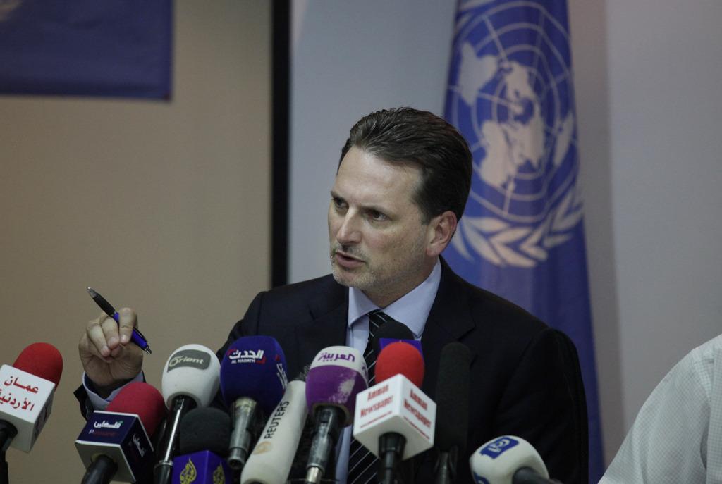 Umgegeben vom Leid der Palästinenser: Pierre Krähenbühl leitet das Unrwa.
