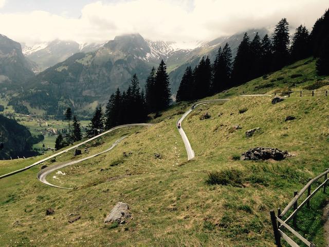 Die Sommerrodelbahn bei der Bergstation Oeschinensee.