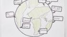 <p>Dieses Werk zeigt die neue Weltsprache: das Internet.</p> <p>(Gellert Schulhaus, Klasse 5b)</p>