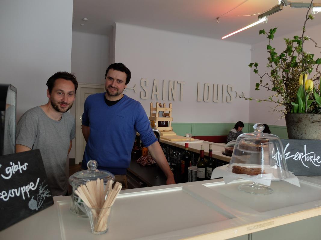 Zwei von drei glücklichen Neo-Buvetten-Betreibern: Christoph Nyfeler und Michael Hänggi.