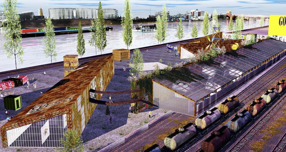 Der Wohngenossenschaft Klybeck ein Dorn im Auge: die geplanten Holzbauten auf dem Areal von Shift Mode
