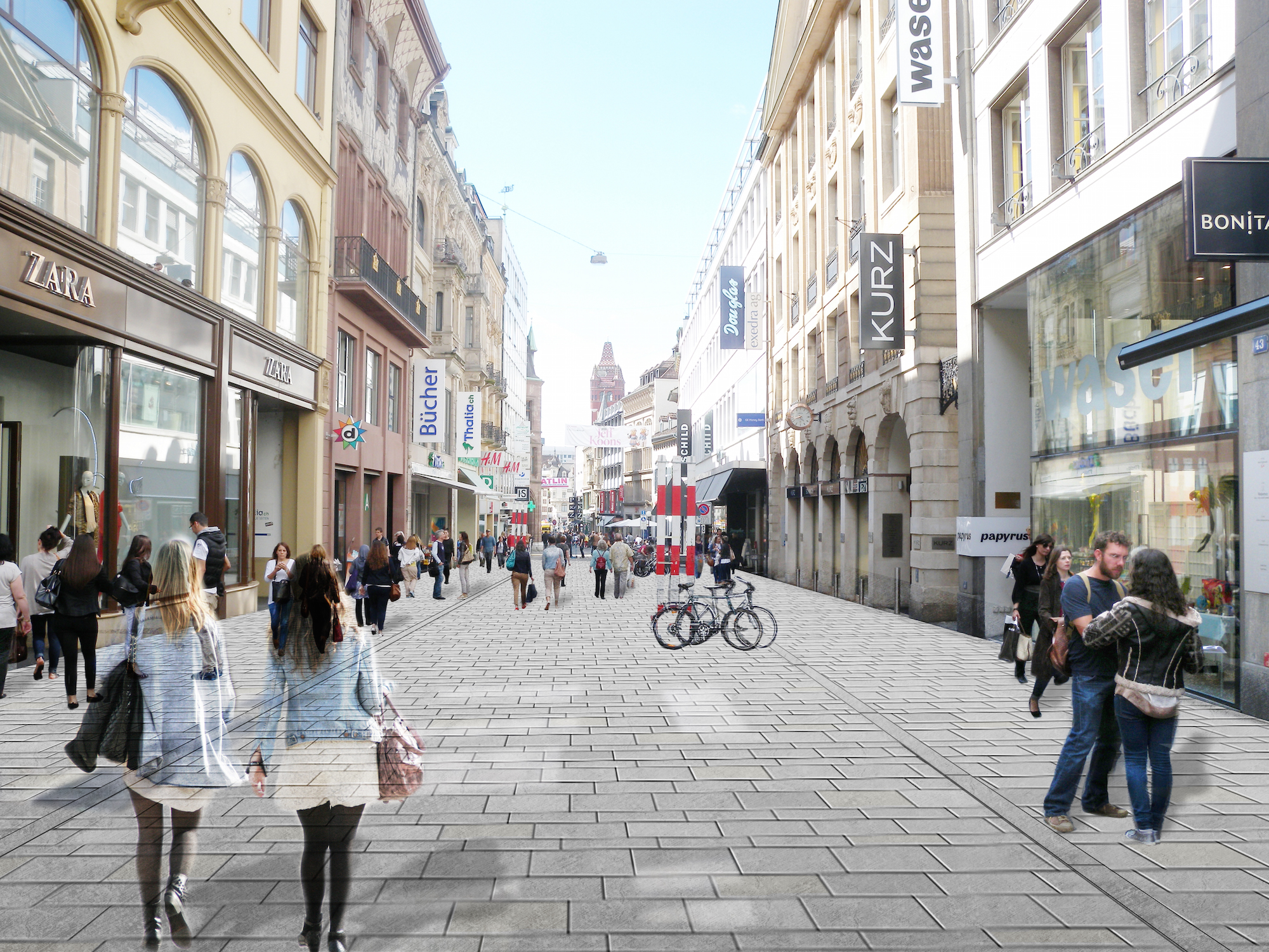 Hoffnungsschimmer aus Quarzsandstein: Die neue Gestaltung zum Beispiel der Freien Strasse solls richten.