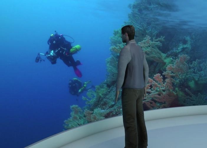 Einem Taucher im Live-Stream über die Schultern schauen können – nur eine der Ideen der Fondation Weber.