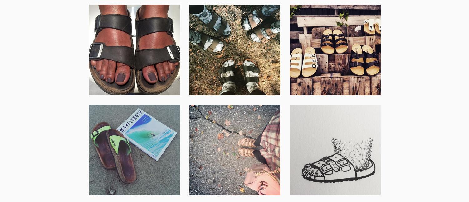Hipper geht nicht: Screenshot von der #Birkenstocks-Seite auf Instagram.