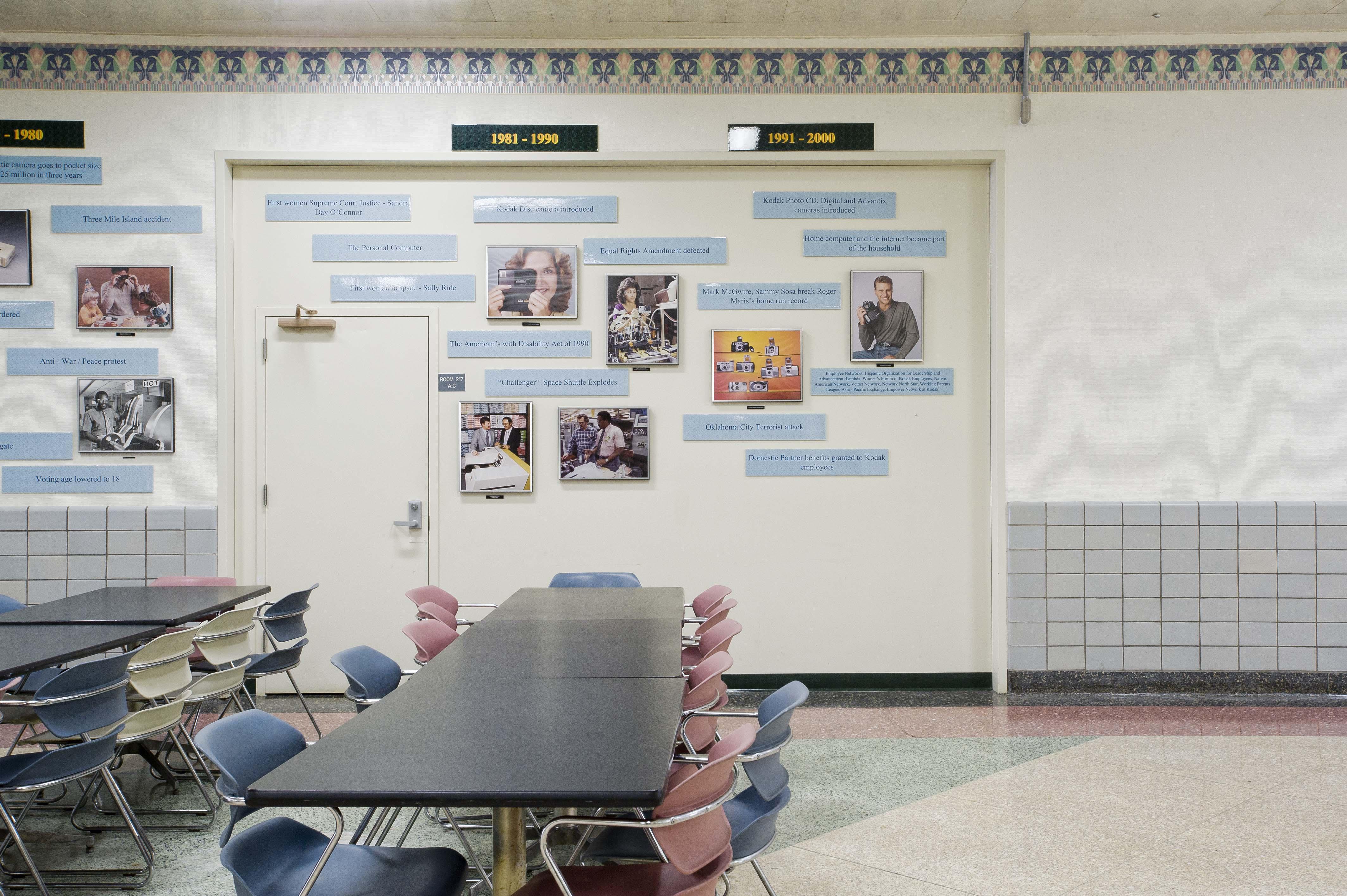 Die Timeline endet in einem Aufenthaltsraum von Kodak im Jahr 2000. Aufgenommen wurde das Foto 2012.
