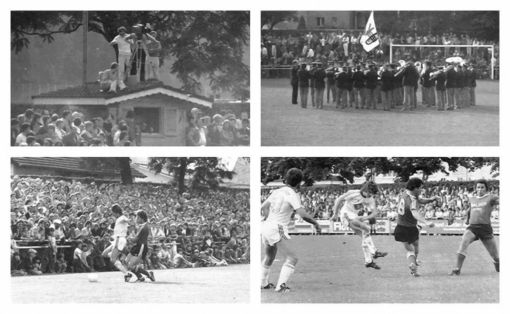 Eindrücke aus dem Jahr 1977, als im Cup der FC Zürich zu Gast war auf dem Margelacker.