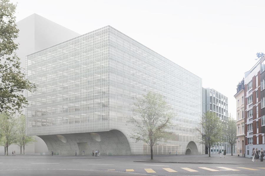Neun Stockwerke für 900 Leute: Die Visualisierung des Siegerprojektes vom Architekturbüro Caruso St. John.