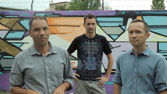 Die Gründer von «Direkt36»: Balazs Weyer (links), Gergö Saling (Mitte) und Andras Pethö (rechts).