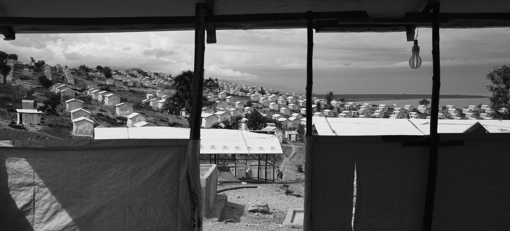 Das Flüchtlingslager in der Provinz Uvira in der Demokratischen Republik Kongo. 10'245 Personen sind hier untergebracht.