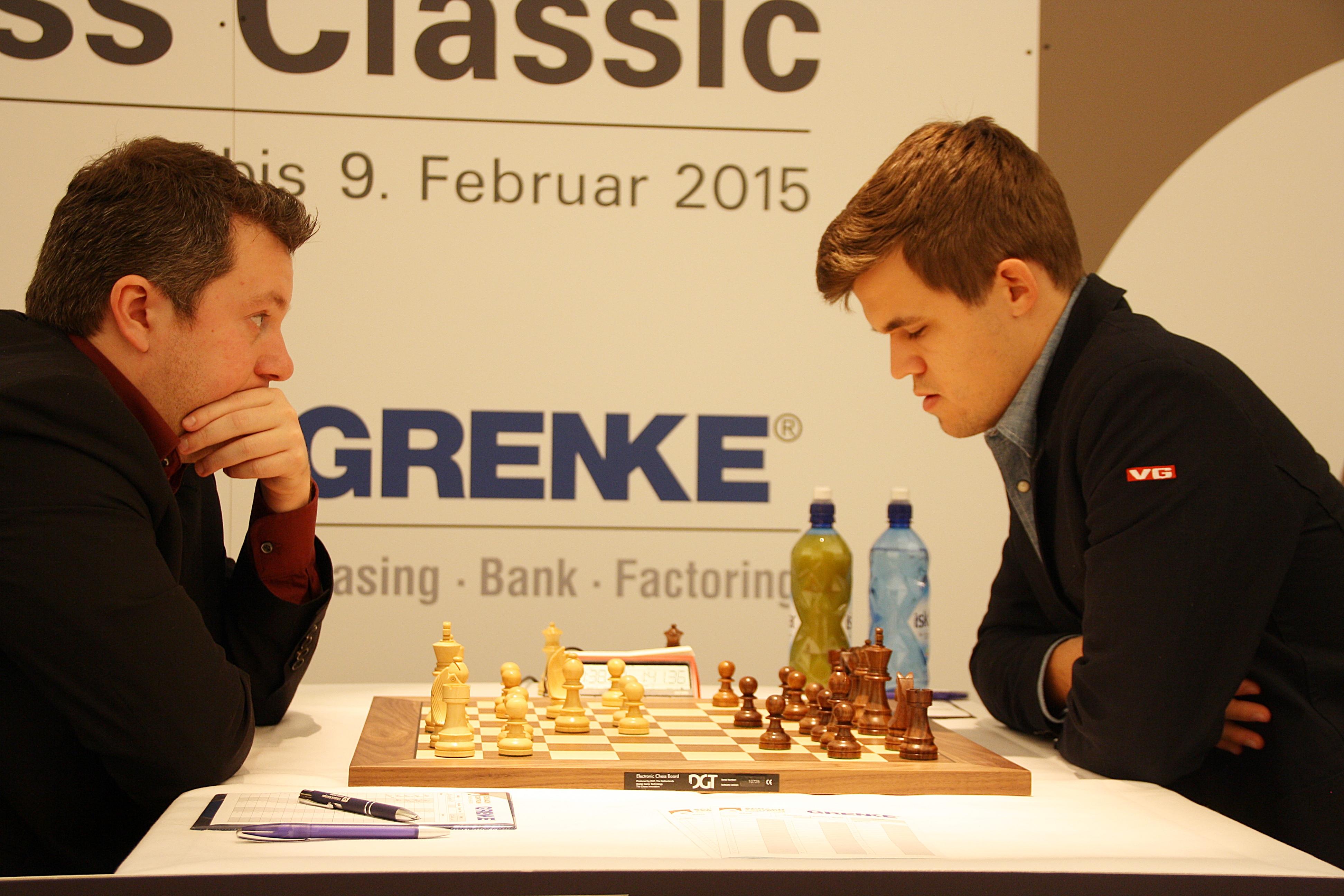 An Arkadij Naiditsch, hier gegen Magnus Carlsen, führt am Basler Schachfestival wohl kein Weg vorbei.