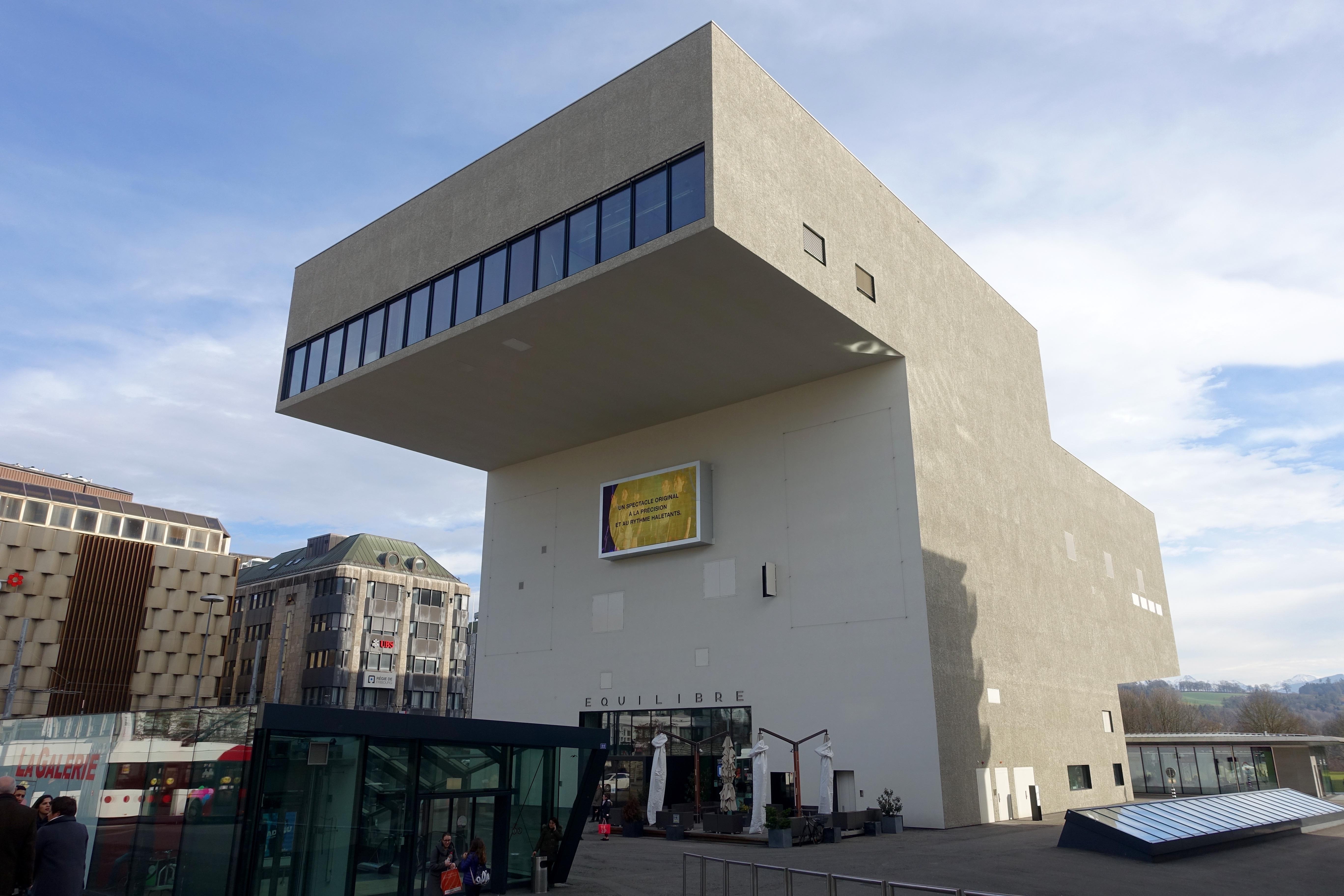 Das Gastspielhaus Equilibre im Stadtzentrum.