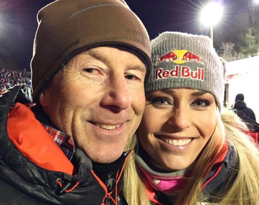 Den Herrn links würde die Dame rechts gerne überflügeln: Lindsey Vonn trifft in Stockholm Ingemar Stenmark, den Rekordhalter im Ski-Weltcup.