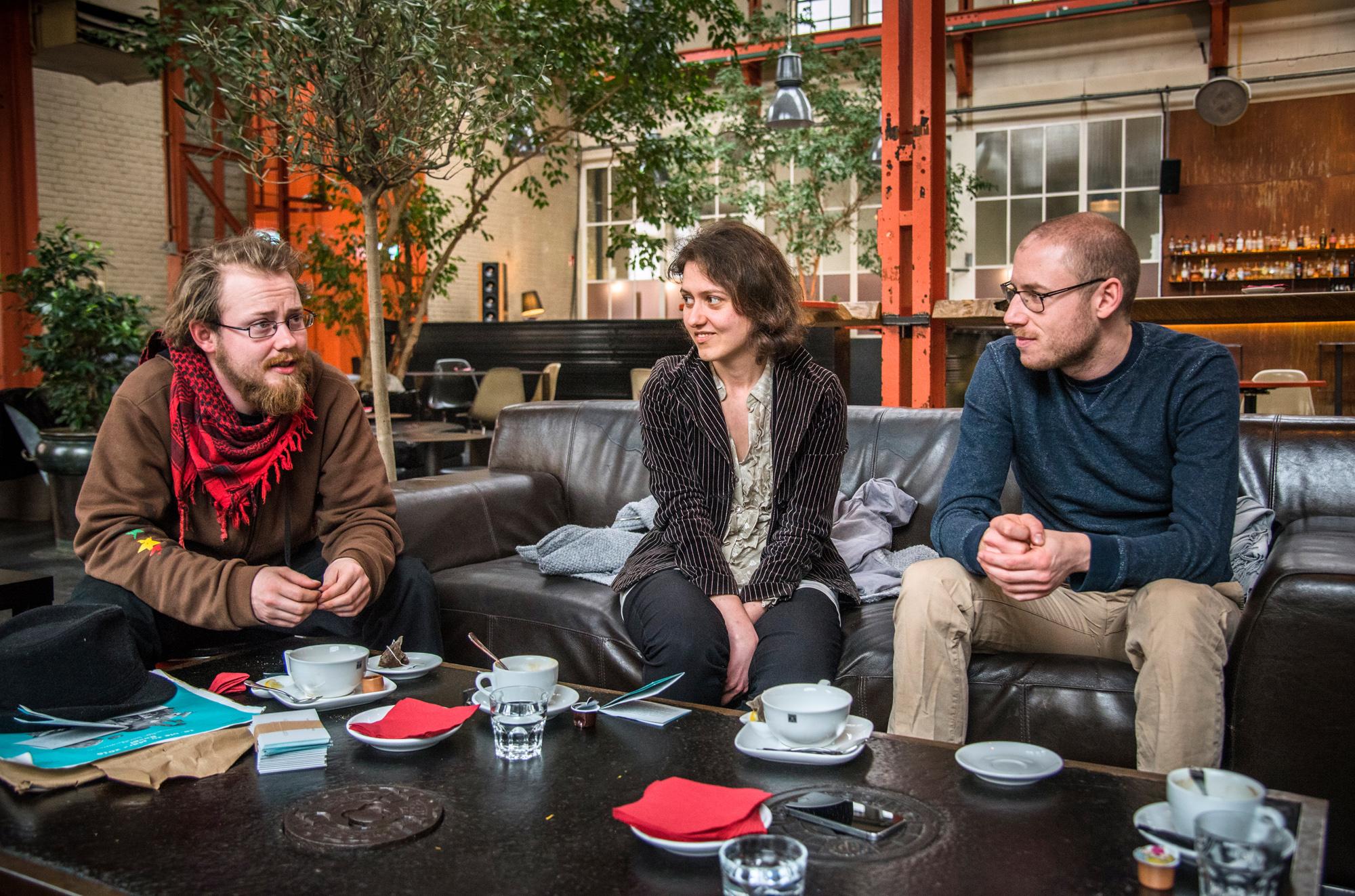 Kaspar Rechsteiner, Katharina Good und Andreas Weber (v.l.n.r.): «Wissenschaft ermöglicht uns vieles ─ unter anderem auch die Zerstörung des Planeten, auf dem wir alle wohnen.»