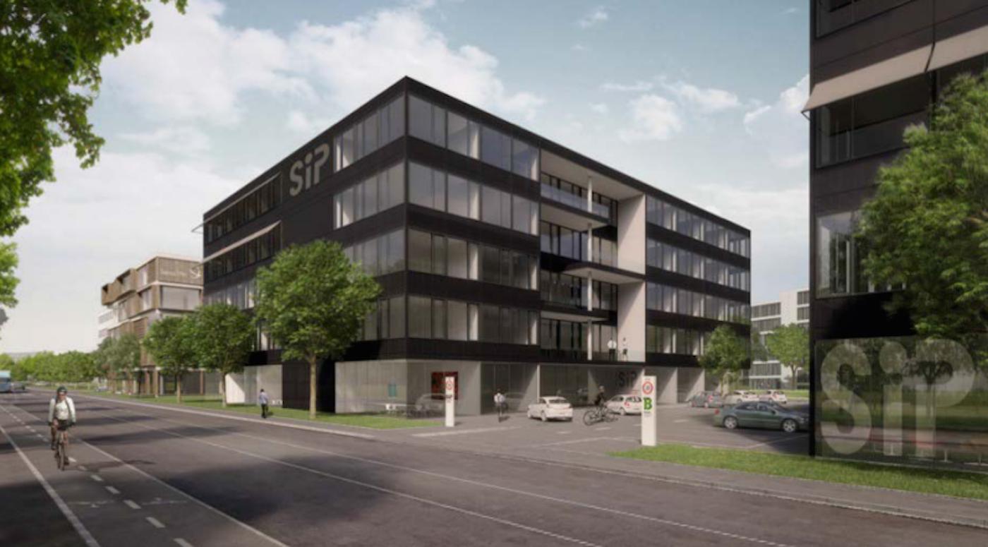 So soll der Neubau im Bachgraben-Areal einmal aussehen.